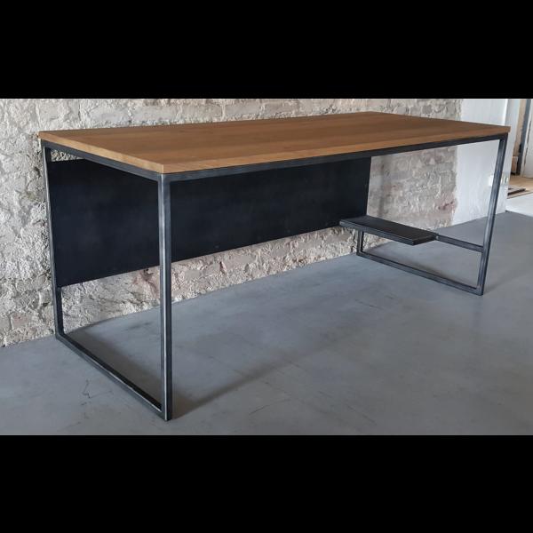 Industrial Design Büro - Computertisch - mit Rustikal Eiche und Stahlgestell DT15