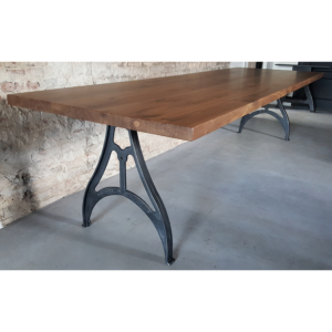 Industrie Design Tisch mit Amerikanischer Nussbaumholz Tischplatte DT09