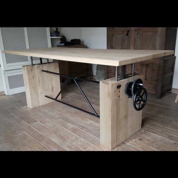 Eiche Tisch höhenverstellbar DT14