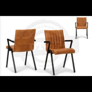 Industrial Design Stuhl Line - mit Armlehnen S002