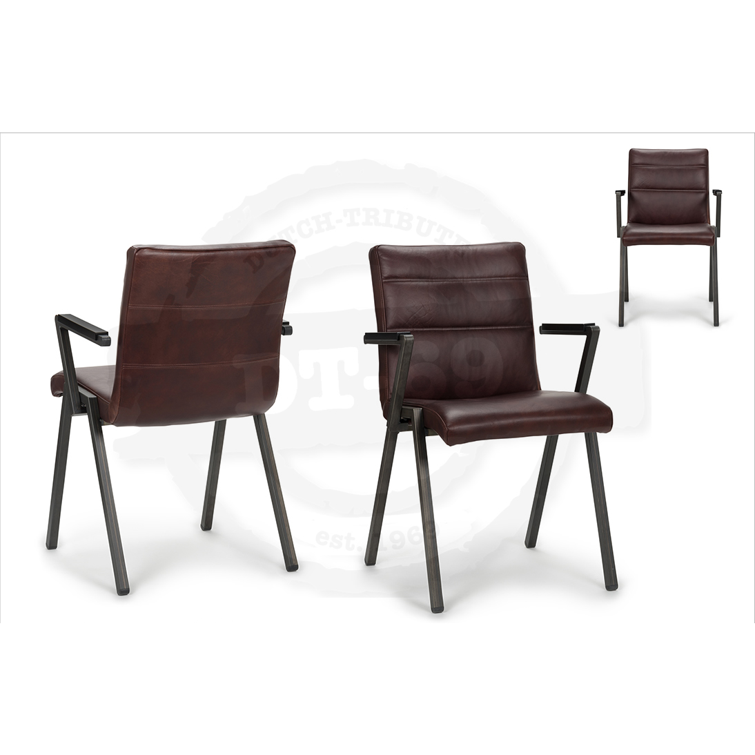Industrial Design Stuhl Beam - mit Armlehnen S008