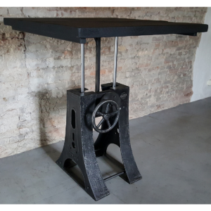 in Höhe verstellbare Industrie Design Tisch DT23