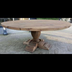 Runder Refektoriums Tisch - sonnenverbrannte Altholz Eiche 4,5 - 5cm dick Z020
