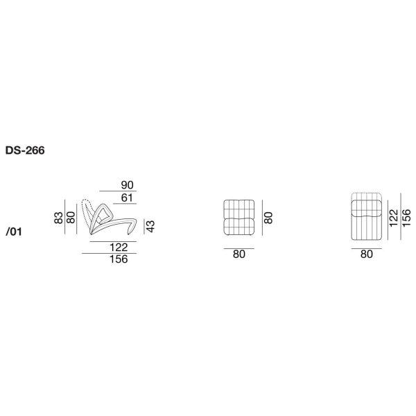 DS-266 Abmessungen