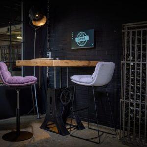 Sitz-Steh-Tisch - Industrie - höhenverstellbar tisch
