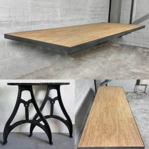 dinningtable-cast-iron-base-table-top-made-of-cork-and-steel-ind732