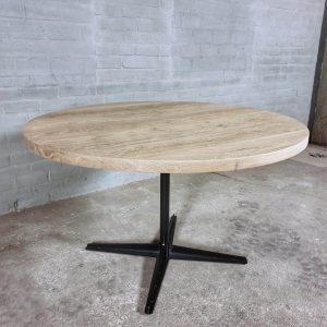 runder-industrie-design-tisch-rustikal-eiche-4cm-moderne-stahl-tischgestell-dt20